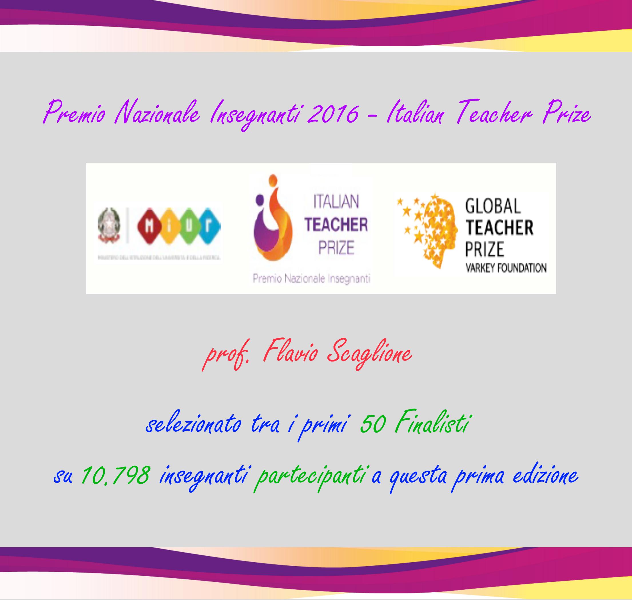 Italian Teacher Prize - Premio Nazionale Insegnanti 2016 - MIUR e Varkey Foundation
